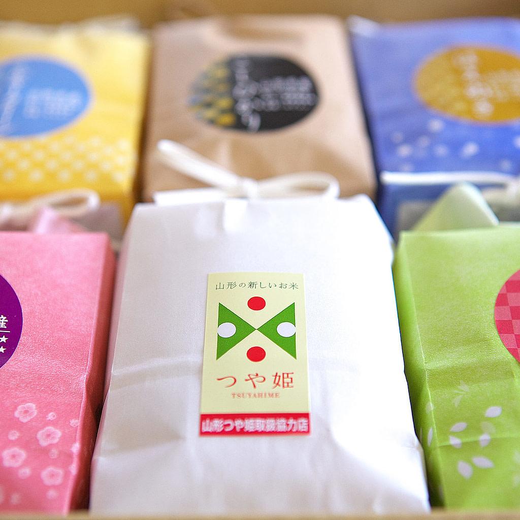 山形米食べ比べセット・こめイロ6